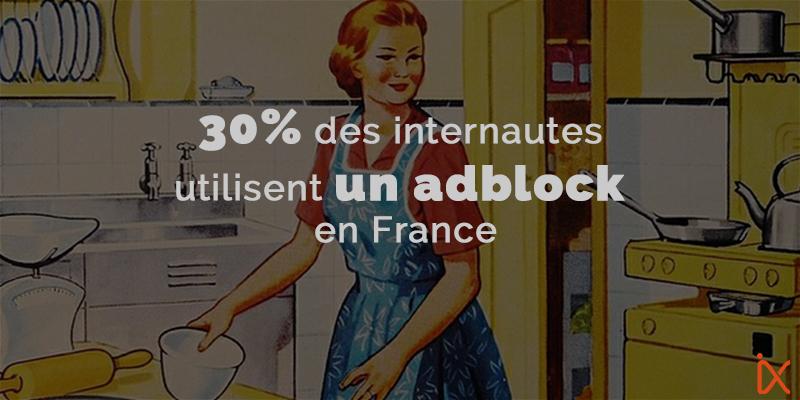Systèmes Adblock… près d'1/3 des français l'utilisent !